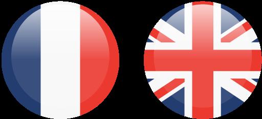 drapeaux français anglais
