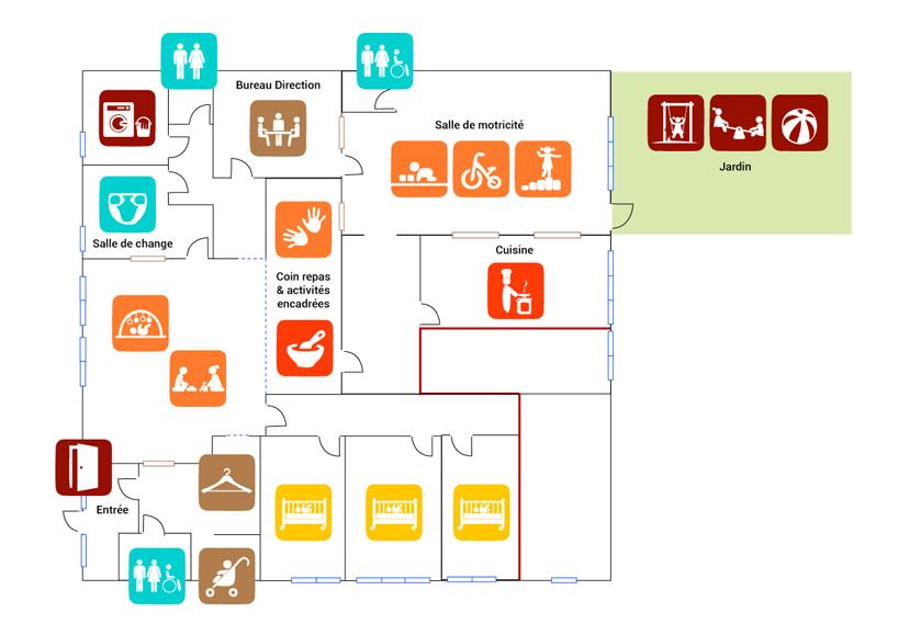 Plan Little Paddock crèche bilingue Saumur